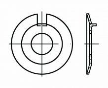 DIN 432, Podkładki kształtowe odginane z noskiem zewnętrznym, PN 82011