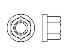 Nakrętki kołnierzowe wysokie z kołnierzem, DIN 6331, PN 61272