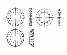 DIN 6797, Podkładki okrągłe sprężyste wewnętrzne, PN 82023