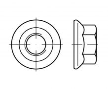 DIN 6923, Nakręki kołnierzowe, Nakrętki kołnierzowe z kołnierzem gładkim, ISO 4161, PN 82168