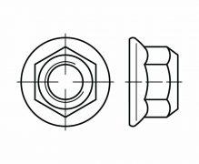 DIN 6927, Nakrętki kołnierzowe samozabezpieczające jednolite, ISO 7044, ISO 12126