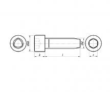 Wkręty samoformujące z łbem walcowym z gniazdem sześciokątnym, DIN 7500 EE