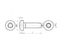 DIN 7500, Wkręty samoformuące z łbem walcowym DIN 7500 EE z gniazdem sześciokątnym