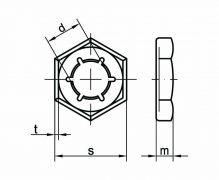 DIN 7967, Nakrętki kształtowe zabezpieczające blaszkowe
