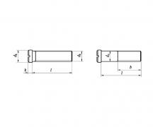 DIN 920, Wkręty do metalu z łbem walcowym pomniejszonym, PN 82281