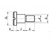 DIN 923, Wkręty do metalu szyjkowe z łbem walcowym, PN 61241