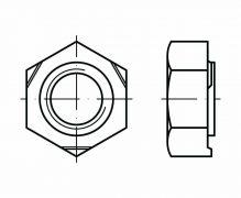 DIN 929, Nakrętki do zgrzewania sześciokątne, PN 82169