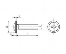 DIN 967, Wkręty do metalu z łbem podkładkowym z wgłębieniem krzyżowym Kombi