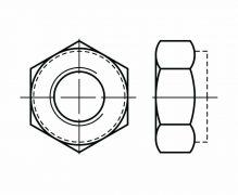 DIN 980, Nakrętki samozabezpieczające jednolite, DIN 6925, ISO 7042, PN 82176
