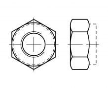 DIN 985, Nakrętki samozabezpieczające z wkładką niemetalową, ISO 10511, PN 82175
