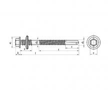 Wkręty samowiercące z łbem sześciokątnym do płyt warstwowych z podkładką EPDM, AN 213