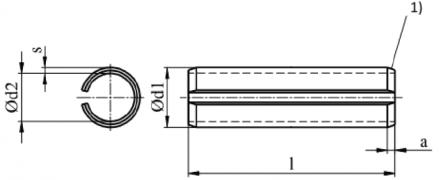 ISO 13337, kołki sprężyste rozcięte lekkie, DIN 7346