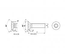 ISO 14581, Wkręty do metalu z łbem stożkowym z gniazdem TORX