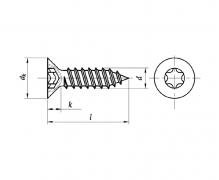 ISO 14586 C, Wkręty samogwintujące z łbem stożk. T (torx)