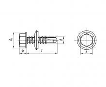 ISO 15480, Wkręty samowiercące z łbem sześciokątnym ząbkowanym ze zdolnością wiercenia