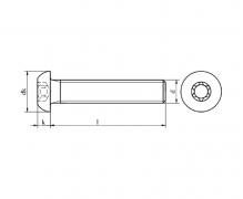 ISO 7380-1, śruby z łbem wypukłym z gniazdem sześciokątnym