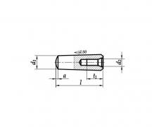 Kołki stożkowe niehartowane z gwintem wewnętrznym, tolerancja h10, DIN 7978, ISO 8736, PN 85019
