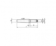 DIN 7977, Kołki stożkowe z czopem gwintowanym, niehartowane, tolerancja h10, ISO 8737, PN 85022