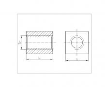 Nakrętki trapezowe kwadratowe, DIN 103