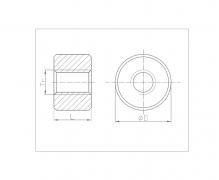 Nakrętki trapezowe okrągłe brązowe, DIN 103