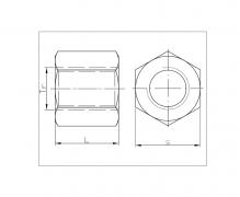 Nakrętki trapezowe sześciokątne, DIN 103