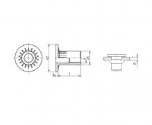 Nitonakrętki przelotowe cylindryczne radełkowane z kołnierzem walcowym powiększonym (do tworzyw)