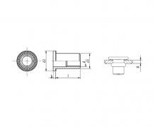 Nitonakrętki przelotowe cylindryczne z kołnierzem walcowym