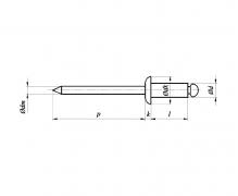 Nity jednostronne z rdzeniem (zrywalne) standardowe, z łbem płaskim A4A4