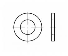 DIN 125, Podkładki okrągłe płaskie dokładne, DIN 125 forma B, ISO 7090, PN 82006