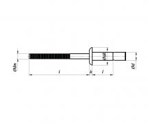 nity konstrukcyjne łeb płaski